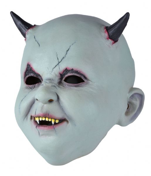 Baby Devil Mask Satan Lucifer Demon Antichrist Halloween Fancy Dress